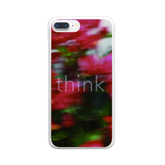 oyumi bedtownのthink Clear smartphone cases