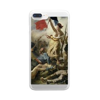 民衆を導く自由の女神 / ウジェーヌ・ドラクロワ(La Liberte guidant le peuple 1830) Clear smartphone cases