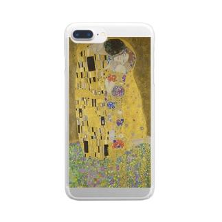 接吻 / グスタフ・クリムト(The Kiss 1908) Clear smartphone cases
