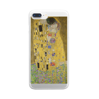 Art Baseの接吻 / グスタフ・クリムト(The Kiss 1908) Clear smartphone cases