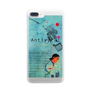 アンチヴァイラル Clear smartphone cases
