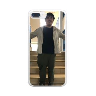 包容力あふれる越智 Clear smartphone cases