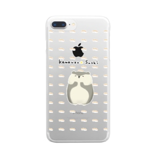 カワウソとおすし Clear smartphone cases