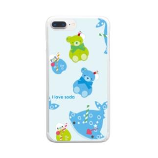 ソーダなみんな、集合だよ2(ライトブルー) Clear smartphone cases