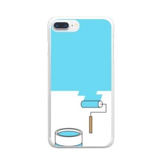 塗り替え中 Clear smartphone cases