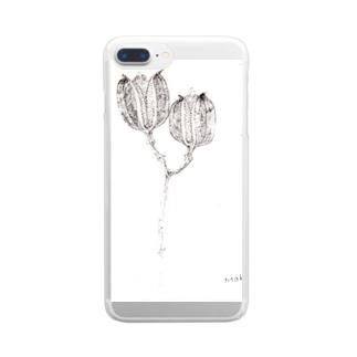 冬のうばゆり Clear smartphone cases