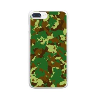 迷彩柄iPhoneケース Clear smartphone cases