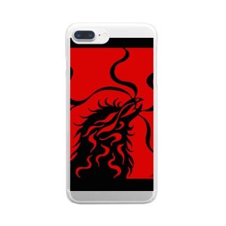 カラス(カラー) Clear smartphone cases