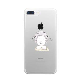 ribちゃん Clear smartphone cases