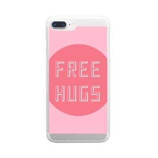 FREE HUGS(フリーハグ)【サークル】 Clear smartphone cases