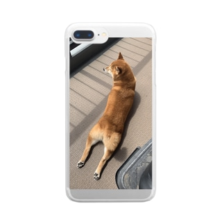 ハナちゃんのダブルチキン Clear Smartphone Case