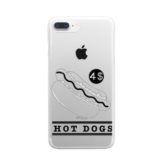 HOT DOGS Clear smartphone cases