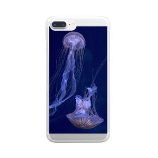 たゆたうクラゲ Clear smartphone cases