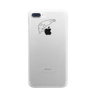 ゆる猫 ゆるる Clear smartphone cases