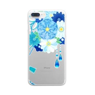 花かんざし03 Clear smartphone cases