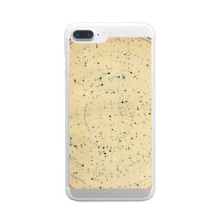 時廻る星図(琥珀) Clear smartphone cases