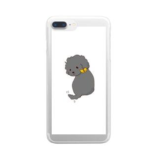 振り返るあざとい子 Clear smartphone cases