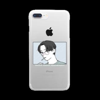 マツモトのnemutainaaa boy Clear smartphone cases