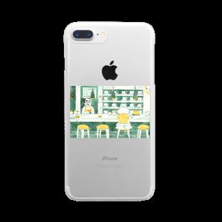 BENIBARAのひとねこ「喫茶ねこ」 Clear smartphone cases