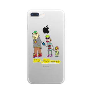 OKOME-DQN-FAMILY Clear smartphone cases