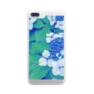 紫陽花 Clear smartphone cases