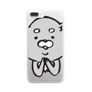 旧ロゴに嫉妬する人狼くん Clear smartphone cases
