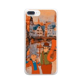 耳からベネチア Clear smartphone cases