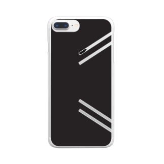 tekkotsu(控え目.ver) Clear smartphone cases