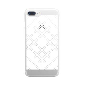 こぎんk01white Clear smartphone cases