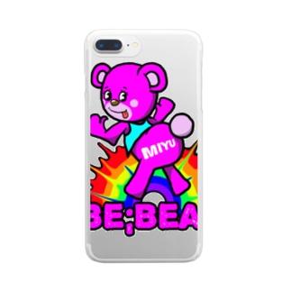 Be;Bear(MIYU) Clear smartphone cases