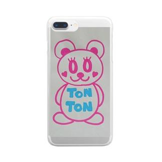 トントンちゃん Clear smartphone cases