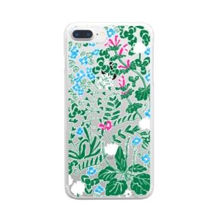 雑草クリアケース Clear smartphone cases