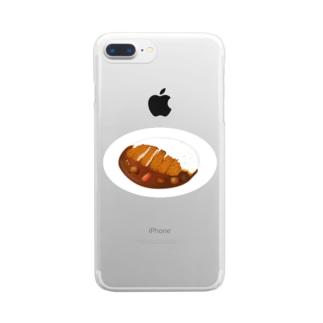 カツカレー Clear smartphone cases