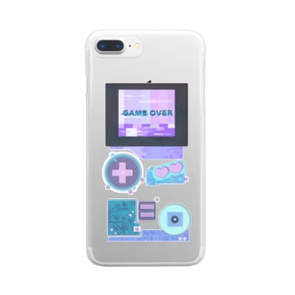 GAMEOVER Clear smartphone cases