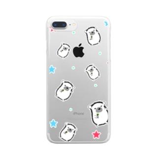 あもんめけーす!(柄) Clear smartphone cases