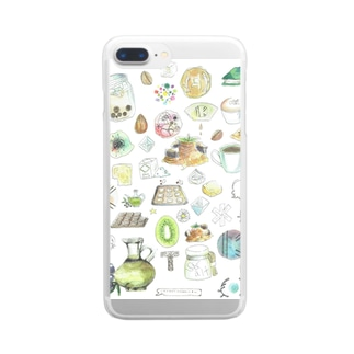 CAFE Kiitos feat.Mika Itoh Clear Smartphone Case