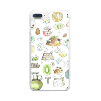 CAFE Kiitos feat.Mika Itoh Clear smartphone cases