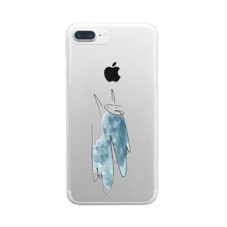 ピュン吉りんごゲット Clear smartphone cases