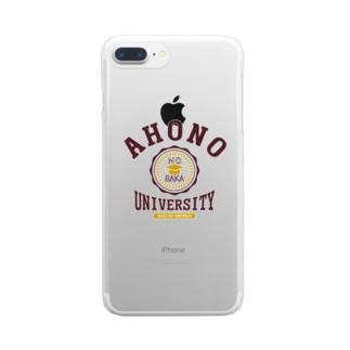 アホの大学 Clear smartphone cases