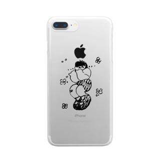 どきどき Clear smartphone cases
