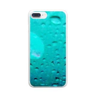 水滴に一片 Clear smartphone cases