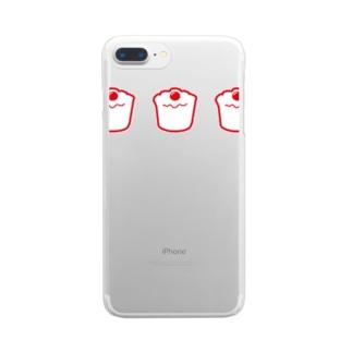 シュ~マイ Clear smartphone cases