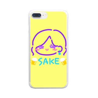SAKEさちえ Clear smartphone cases