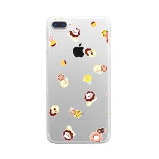 ドーナッちゅん Clear smartphone cases