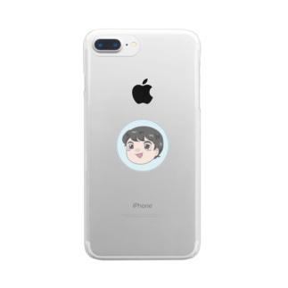 ゆっくりふじい Clear smartphone cases
