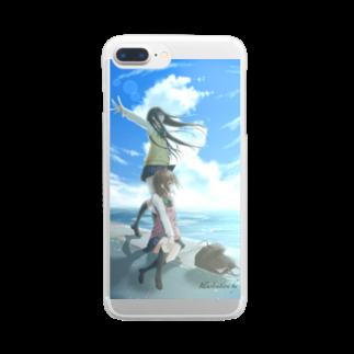 あーるのアトリエの蒼の景色 Clear smartphone cases