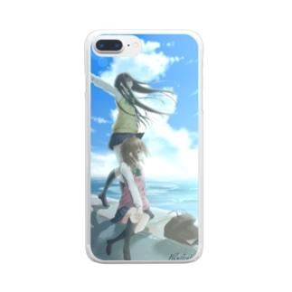 蒼の景色 Clear smartphone cases