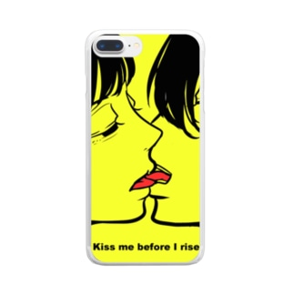 Kiss me before I rise. Clear smartphone cases