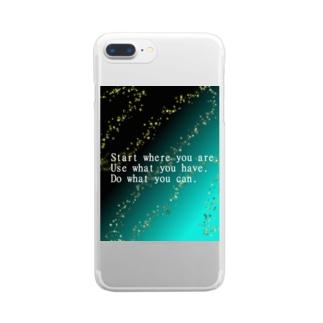 天の川 Clear smartphone cases