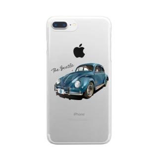 ブルーのビートル Clear smartphone cases